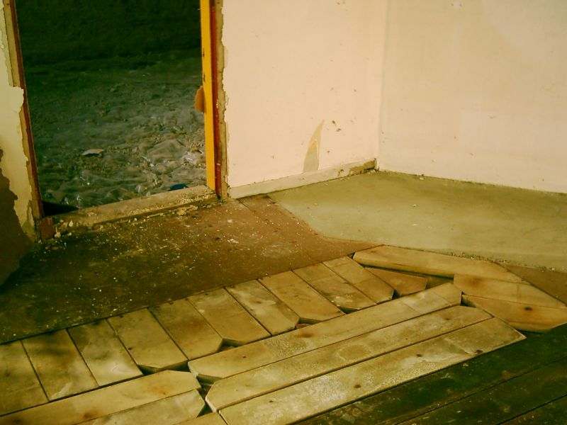 fadebur i gulv